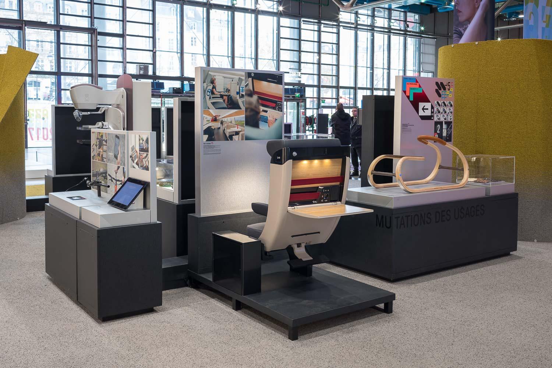 L'exposition de l'Observeur du design 2018 présentée au Centre Pompidou du 5 au 7 décembre 2018 © Franck Parisot
