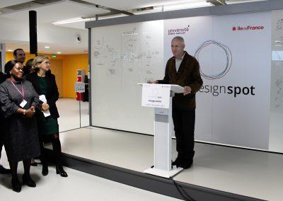 Discours de Vincent Créance lors de l'inauguration du Design Spot