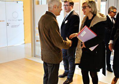 Valérie Pécresse, Vincent Créance et Philippe Watteau au Design Spot pour son inauguration