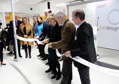 Valérie Pécresse et Vincent Créance inaugurant le Design Spot