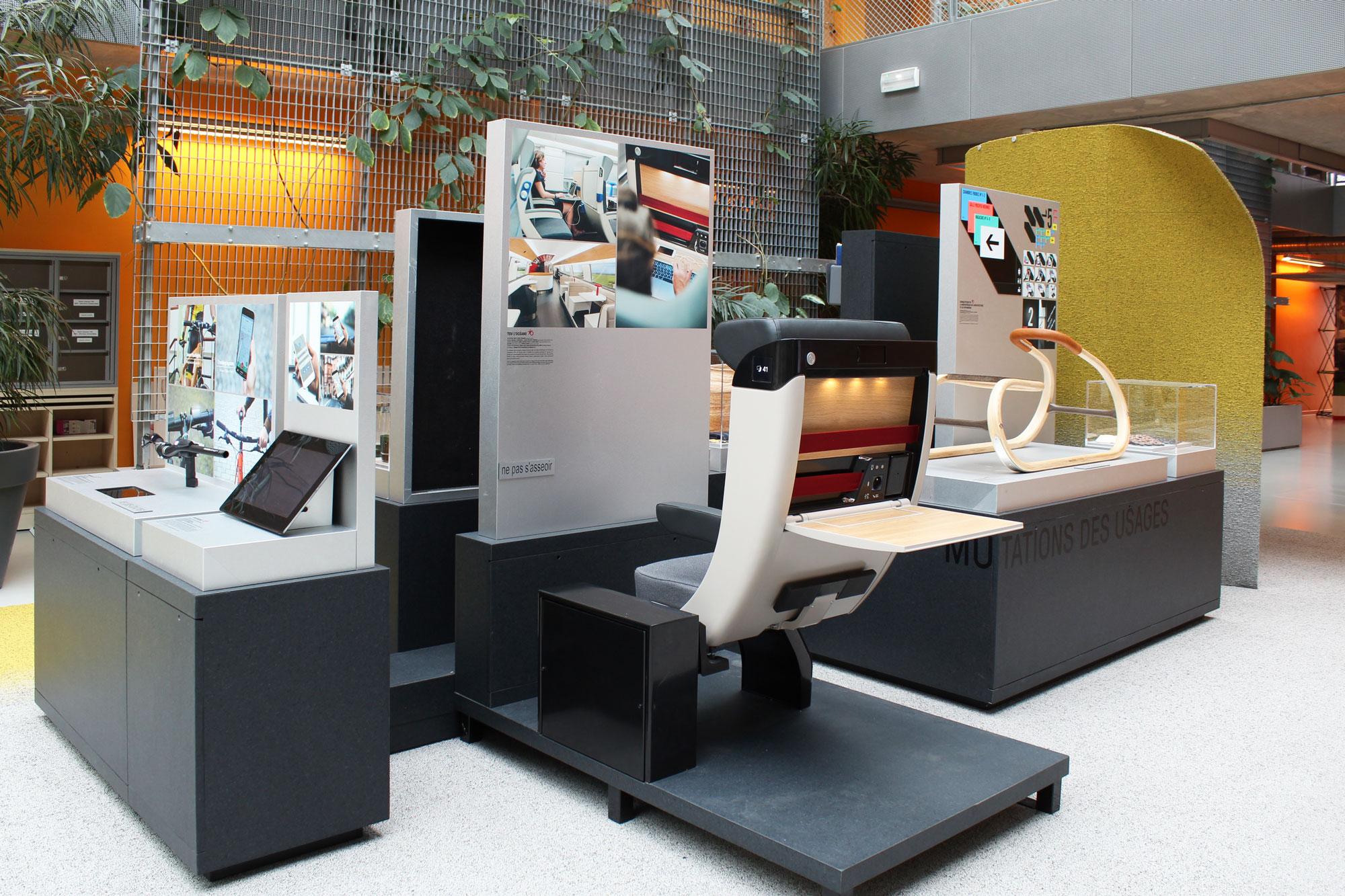 Exposition Observeur du design 2018 au Design Spot de l'Université Paris-Saclay