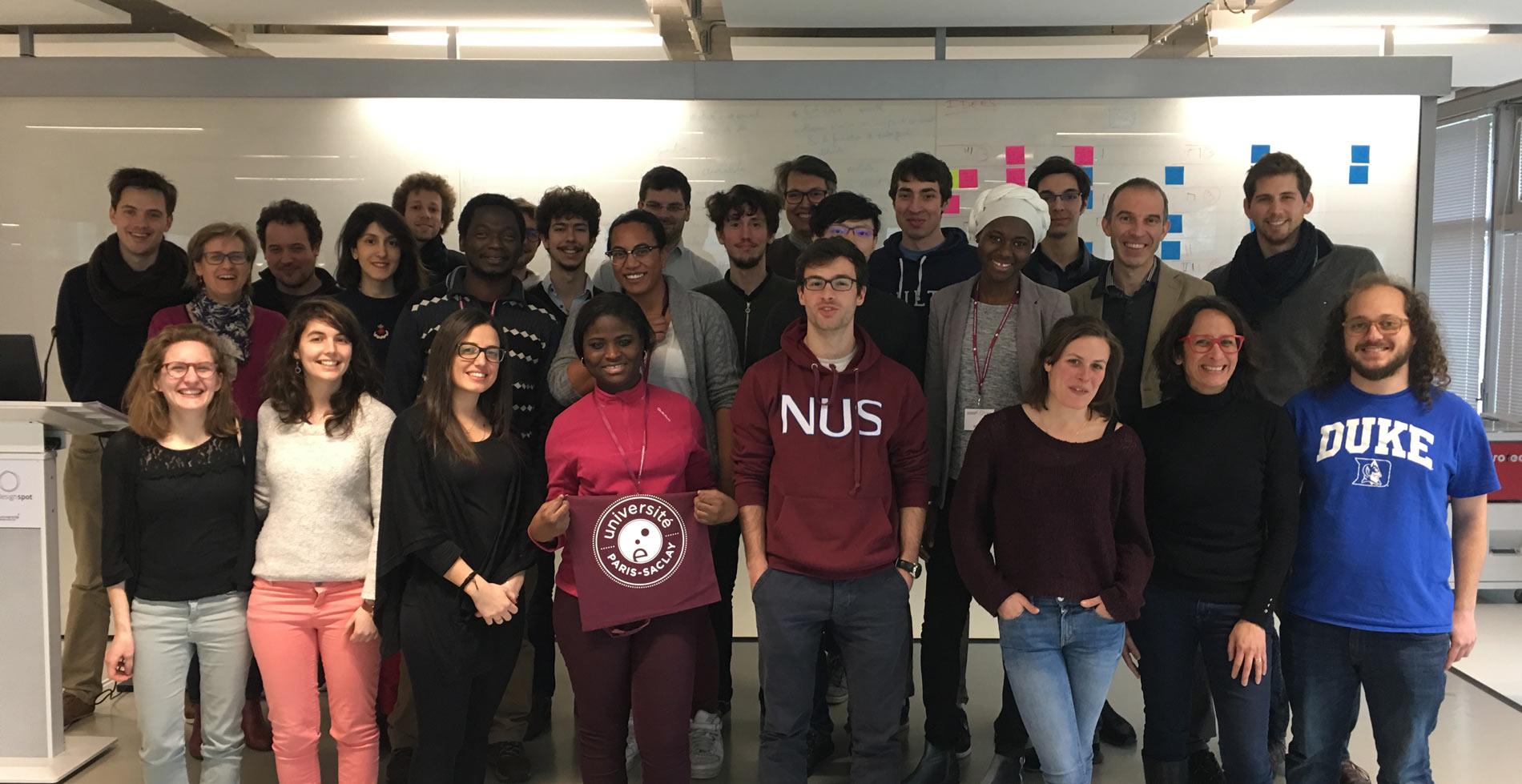 Doctorants participant aux Doctor'Preneuriales 2018 de l'Université Paris-Saclay