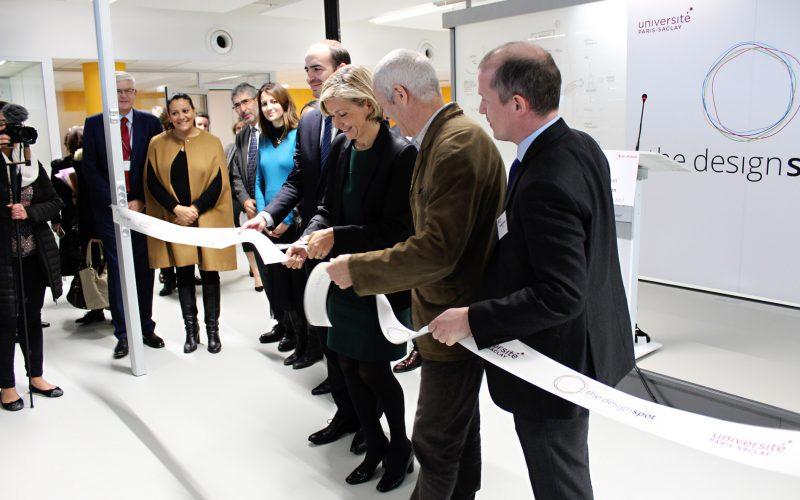 Valérie Pécresse et Vincent Créance lors de l'inauguration du centre de design The Design Spot à Paris-Saclay