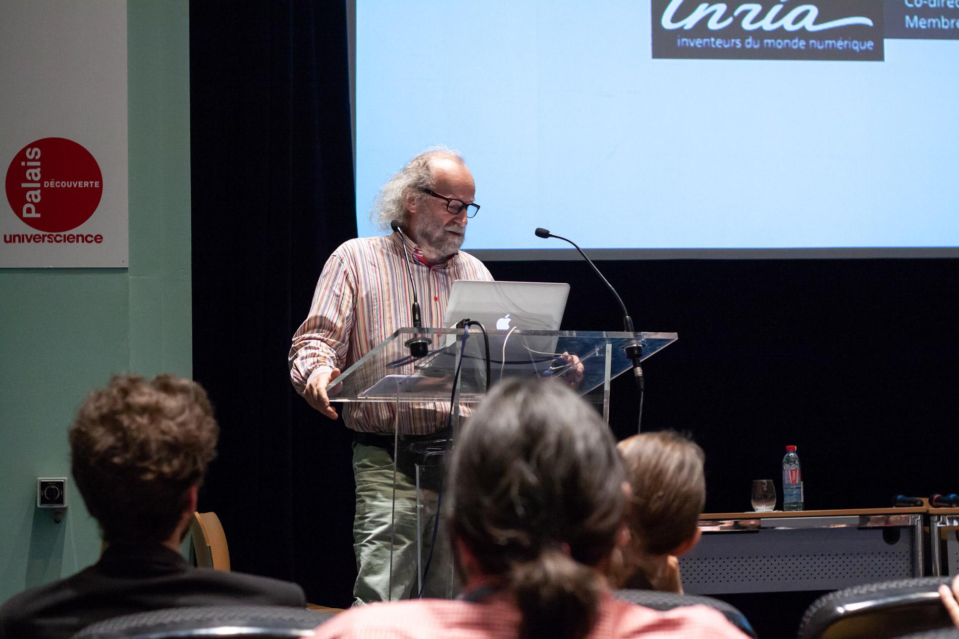 Intervention de Marc Schoenauer (Inria) lors du lancement du Prix Design & Science 2019 au Palais de la découverte